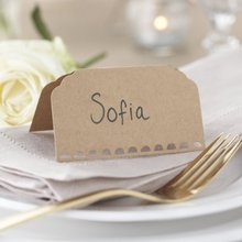 Khaki Tent Cards Wedding Place Card Number Seating Reception Markers Ginger Ray Plain Kraft