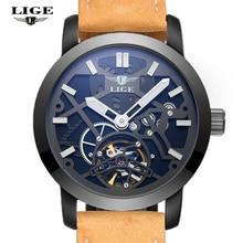 2016 Новые мужские Часы LIGE мужская Роскошные Фирменные Часы Автоматические Механические Часы мужская Военная Машина Простоя Скелет мужские Часы