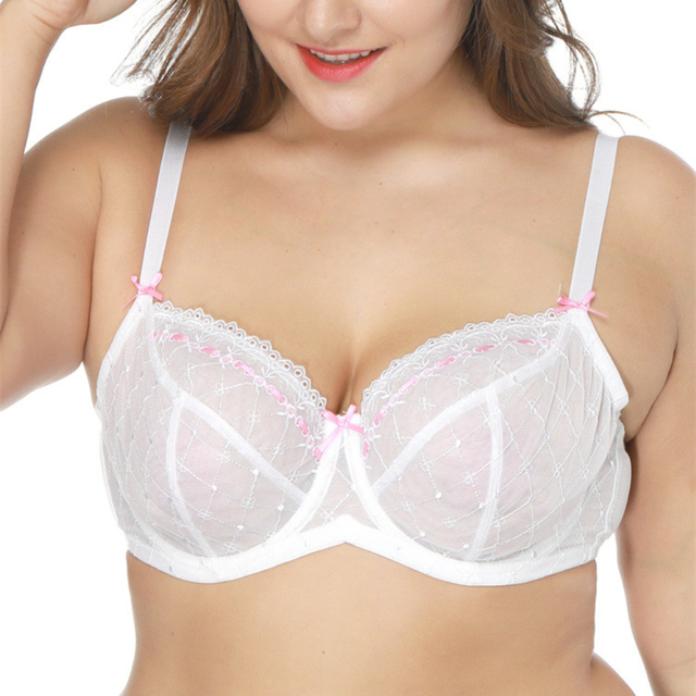 6e90feae78 Women Ultra Thin Soft bra 34-42 C D DD DDD Underwired non-padded Plus Size  Bra for big breast H415