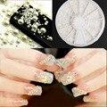 Blueness Manicura 4 Tamaños Media Perla Redonda Blanca Decoraciones 3D Clavos Clavos Strass Glitter Volante Fuentes Del Arte Del Clavo