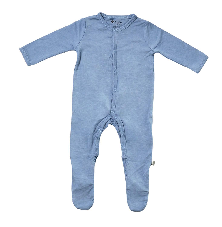 5 peças Pijamas Footed Do Bebê Feita de Soft Material de Rayon De Bambu Orgânico
