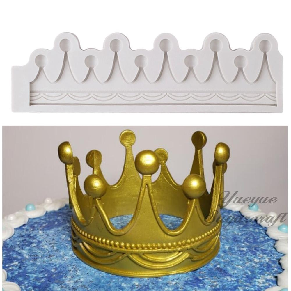 Yueyue Sugarcraft Crown Silicone Mold Fondant Mold Cake Decorating Tools Chocolate Gumpaste Mold