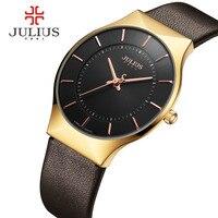 GIMTO Mens Watches Top Brand Luxury Gold Leather Strap Business Quartz Watch Men Clock Wristwatch Male