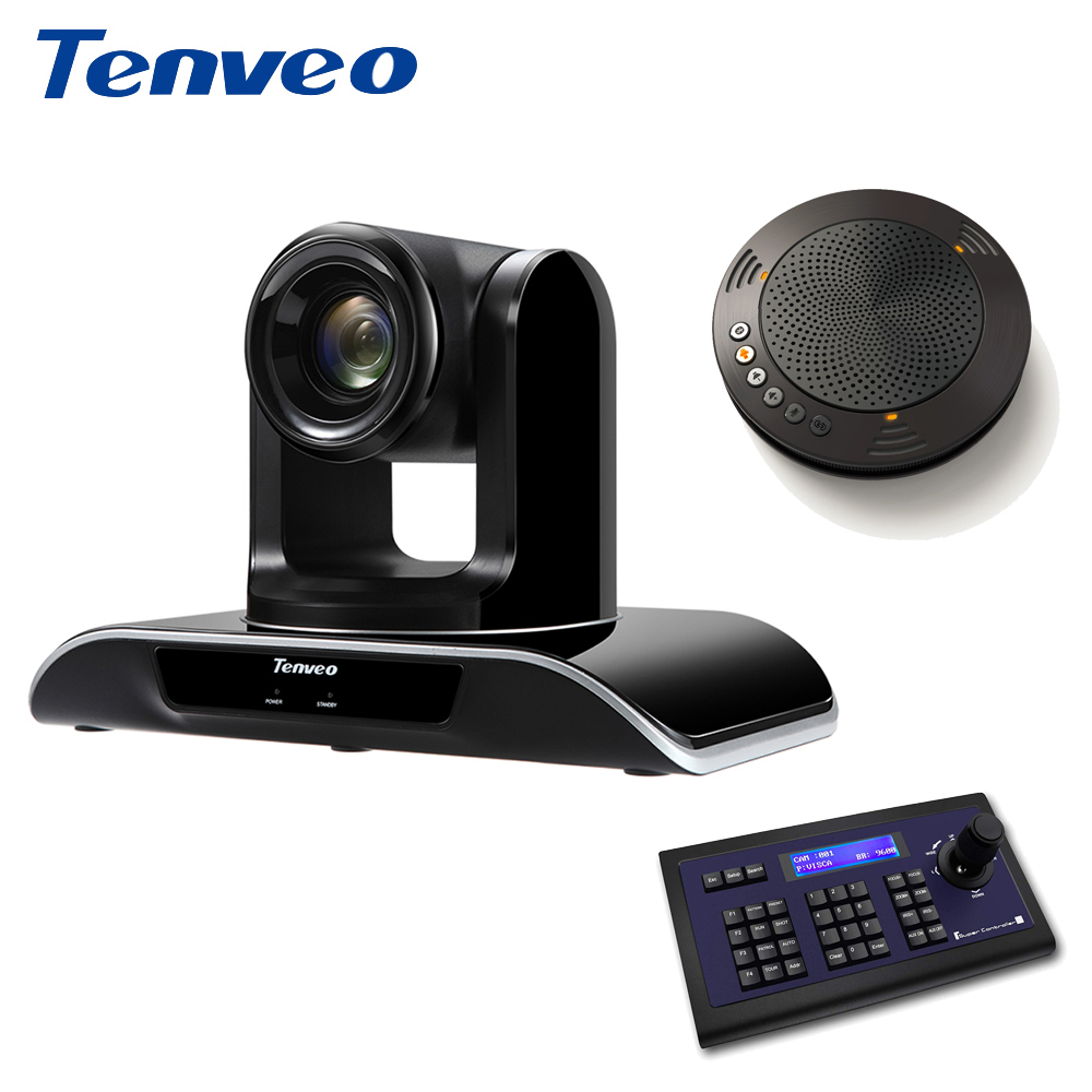 Tenveo 1080p60fps Full HD PTZ HDMI Camera Video Calling 20X Zoom USB 3.0 HDMI Output Stream Webcam + Bluetooth Speakerphone image