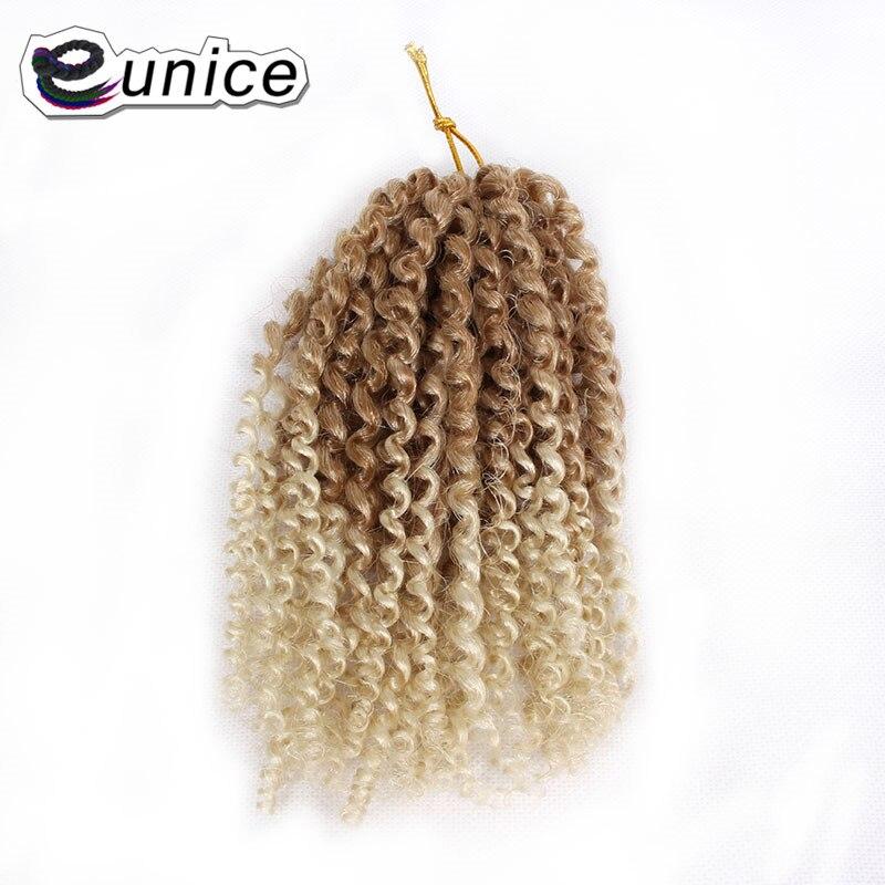 Synthetic Ombre Braiding Hair Mali bob Kinky Curly Crochet Hair (5)