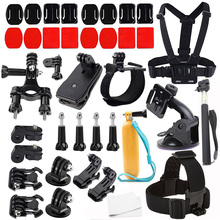 Gopro Accessories Set Helmet Chest Belt Head Mount Strap for Go pro Hero 4 3 5 xiaomi yi action camera EKEN H9 H8 R 21B