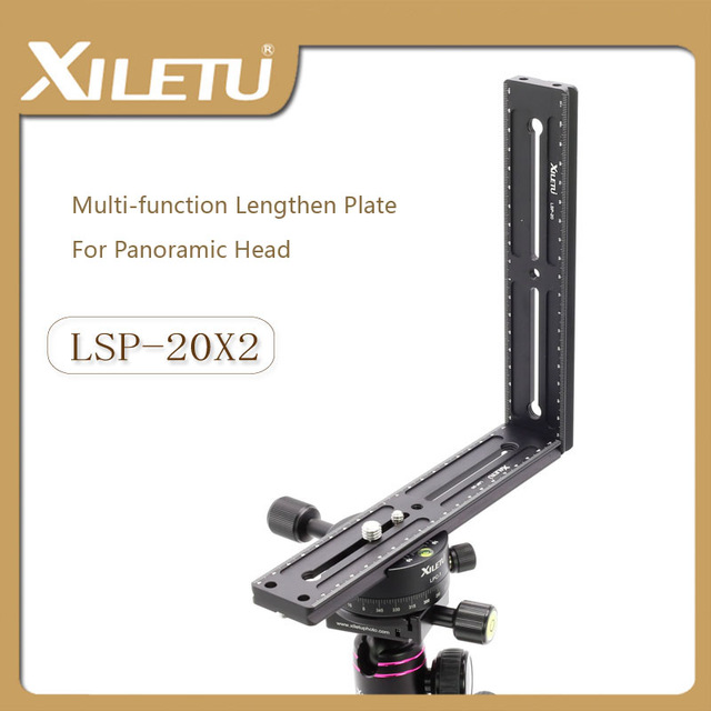 XILETU LSP-20X2 2 Pieces Of Camera Quick Loading Bracket Lengthen Plate For Arca Swiss Tripod Panoramic Tripod Head