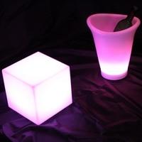 L26*W22*H30cmcm Ice Bucket LED Flower Bucket LED Flashing Light ice cooler Multi color change led Planter Pot free shipping 1pc