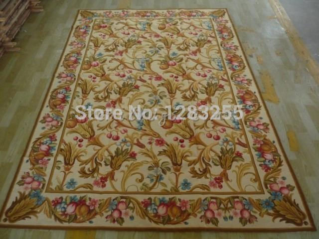 100% wool 2014 Direct Selling Real Freeshipping Alfombra Alfombras Carpet Hand-stitched Needlepoint Rug Zc2235 1.8x2.7m Carpets