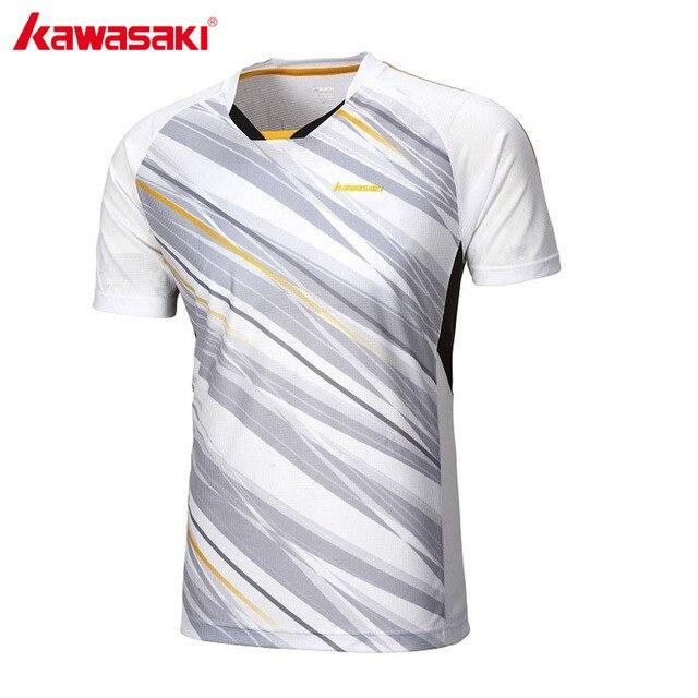 Us 19 71 31 Off Kawasaki Weiss Sport T Shirt Fur Manner V Kragen Kurzarm Badminton Tennis Hemd Mannlich Fitness Gym Kleidung Sportbekleidung St