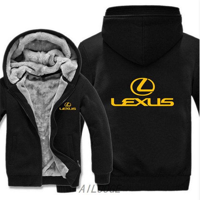 fb9c0238b AILOOGE 2019 New Man Coat Lexus Logo Sweatshirts Pullover Lexus Hoodies  Jacket Winter Mans Unisex Casual Wool Liner Fleece