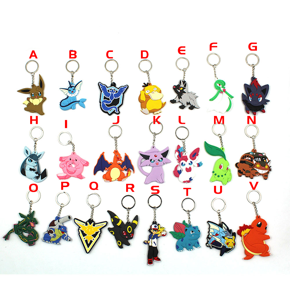 game-pocket-monster-font-b-pokemon-b-font-eevee-vaporeon-espeon-psyduck-charizard-zapdos-pvc-pendant-keychain-keyring-ornament-cosplay-gift