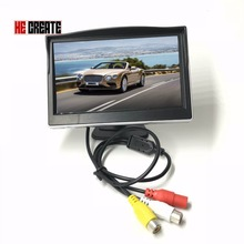 HE CREATE 5 Inch Car TFT Color LCD 640X480 Rear View Monitor Digital Screen Display Support