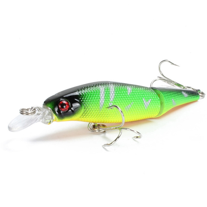 1pcs 7.7g 9.5cm Wobblers Pike Fishing Lures Multi Jointed Sections Bait  Crankbait  Fake Fish Artificial Minnow Fishing Tackle