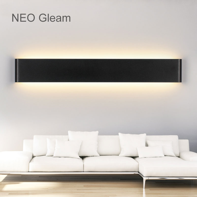 NEO Gleam Modern Led wall lights lamp living room bedroom wall lights makeup dressing room bathroom Aluminum led mirror fixtures 40cm 12w acryl aluminum led wall lamp mirror light for bathroom aisle living room waterproof anti fog mirror lamps 2131