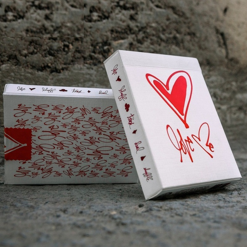 Love Me Deck Playing Cards Theory11 Luxury Poker Magic Cards Valentine's Day Gifts For GirlFriend Wife Magic Trick Props Toys