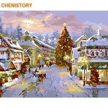 Chenistory Рамка Рождественская картина Сделай Сам краска по
