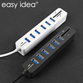 USB Hub 3/6 Port USB 3.0 Hub High Speed Multi USB Splitter 2.0 Hab 3 Hub 3.0 Multiple TF SD Card Reader For PC Laptop