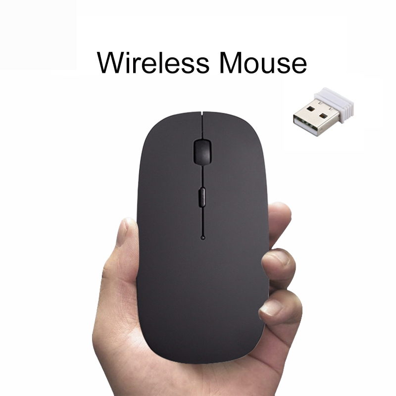 Wireless Mouse Rechargeable Gaming Computer Mouse For Mac Windows 8/10 HP Lenovo Asus Notebook Cordless Mouse With USB Receiver