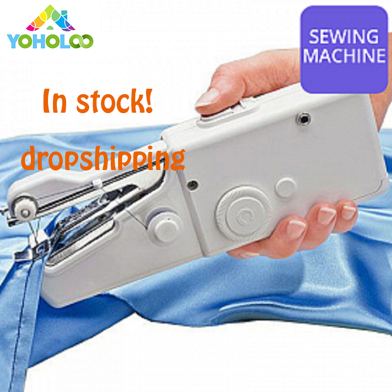 Mini Tragbare Elektrische Handheld Nähmaschine Stich Nähen Hand Cordless Kleidung Stoffe Elektrische Nähmaschine Stich Set