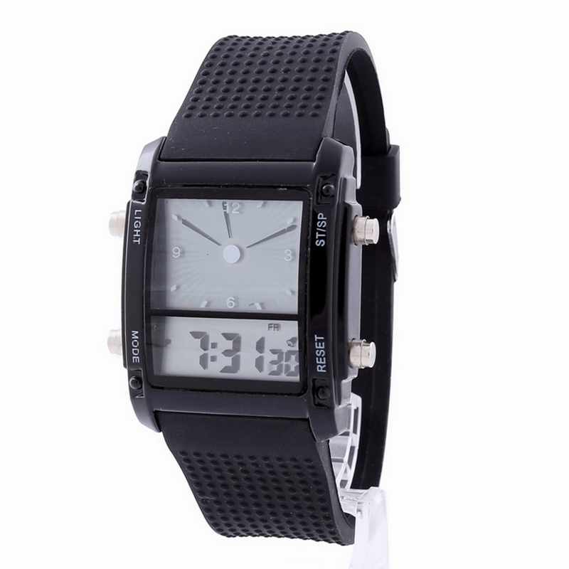 2016 New KANNISHI LED Digital  Watch Fashion Casual Dress Waterproof Outdoor Watches Dual Time Wristwatches Relogio Masculino 2017 new top fashion time limited relogio masculino mans watches sale sport watch blacl waterproof case quartz man wristwatches