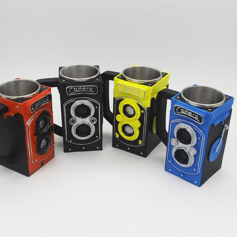 New Retro Resin camera coffee cup