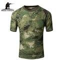 MEGE Coolmax Verano T-Shirt, hombres Tácticos de Combate de Camuflaje Transpirable de Secado rápido de La Camiseta, Camiseta militar