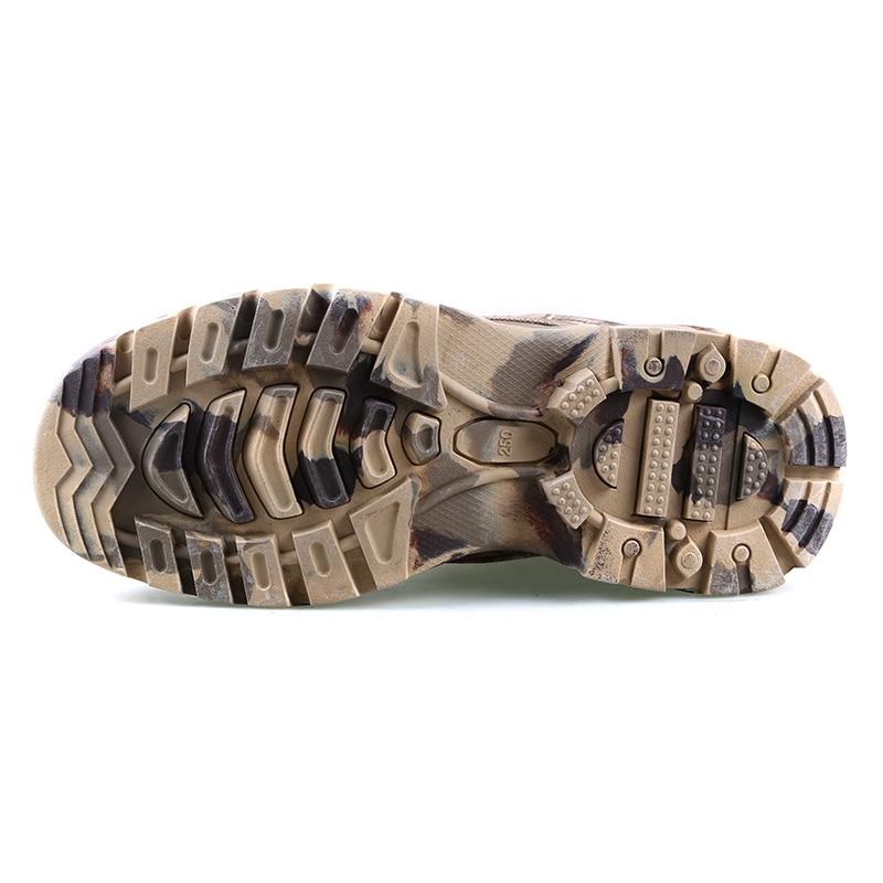 Новые уличные водонепроницаемые охотничьи сапоги камуфляжные зимние кроссовки зимние сапоги Плюшевые тактические мужские ботинки для взрослых прогулочная обувь - 5