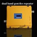 Alta qualidade de banda dupla 1800 900 repetidor amplificador display lcd celular gsm dcs 1800 signal booster com adaptador de energia no venda