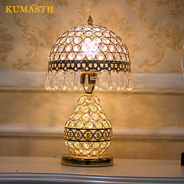 Aliexpress.com : Buy Table Lamp Bedroom Bedside Light Crystal ...