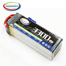 MOSEWORTH 6S RC LiPo Battery 22.2v 3300mAh 25C For RC Airplane Helicopter Drone Car Boat Batteria Free Shipping