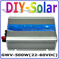 500W solar system for 30V 60Cells and 36V 72Cells Solar Panel, MPPT function, Pure Sine wave Micro On Grid Tie Inverter