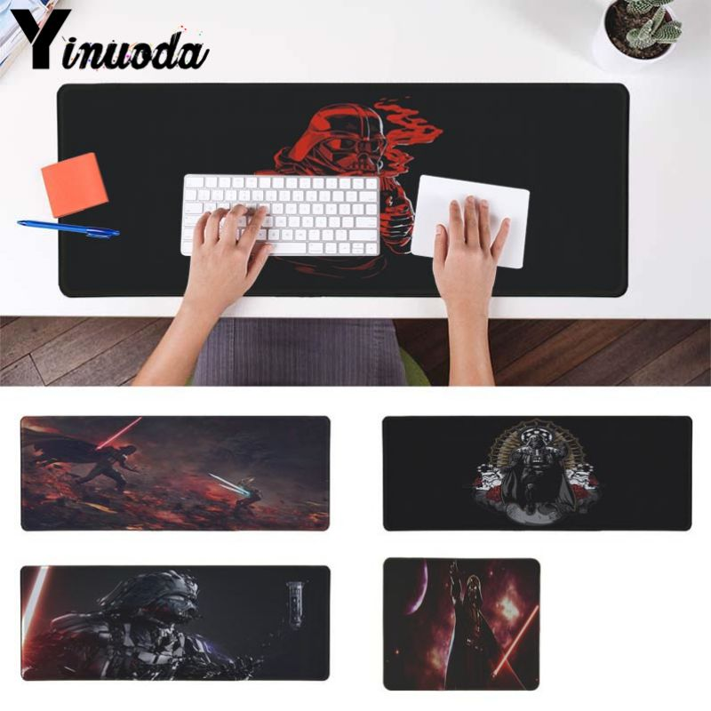 Yinuoda New Design Darth Vader StarWar Customized laptop Gaming mouse pad Edge Locking Speed Version Game Keyboard Pad for Gamer image