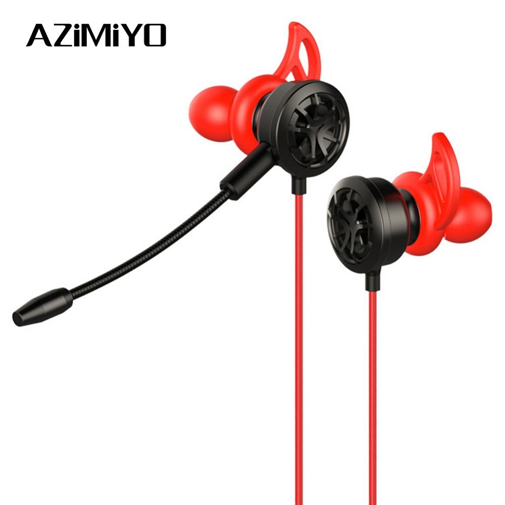 AZiMiYO Gaming Headset wich Detachable mic for computer PC games earphones HD bass headphones Sport Music Stereo for phone