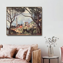View the Trees by Paul Cezanne Famous Canvas Painting Calligraphy Poster and Prints For Home Living Room Wall Art Decoration fritz erpel paul cezanne
