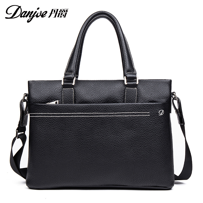 DANJUE Men's Totes Laptop Shoulder Bag Brand Real Leather Handbag Business Briefcase Men Genuine Leather Gentleman danjue genuine leather men travel shoulder bag double zipper designer crossbody bag business fashion real leather briefcase bag
