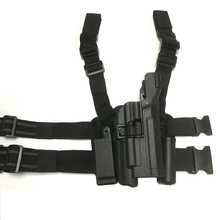 Hunting Tactical Gun Holster Right Hand Airsoft Combat Pistol Thigh Leg Handgun for HK USP With Flashlight W/ Magazine Pouch