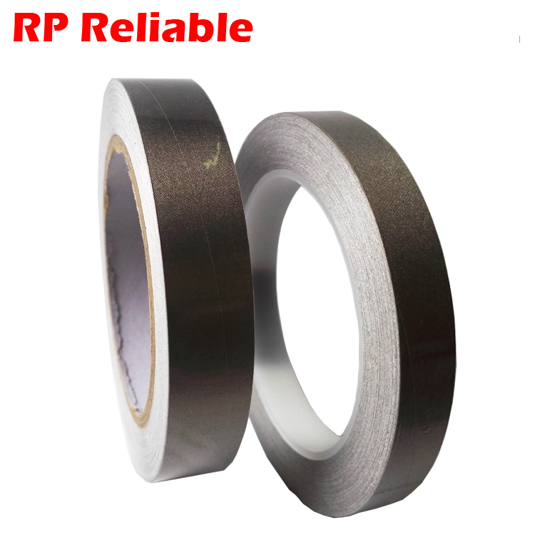 5mm/10mm/20mm/100mm/200mm Silver Fabric Conductive Cloth Adhesive Tape for PC Mobilephone Remoter Cable Wraping EMI Shielding