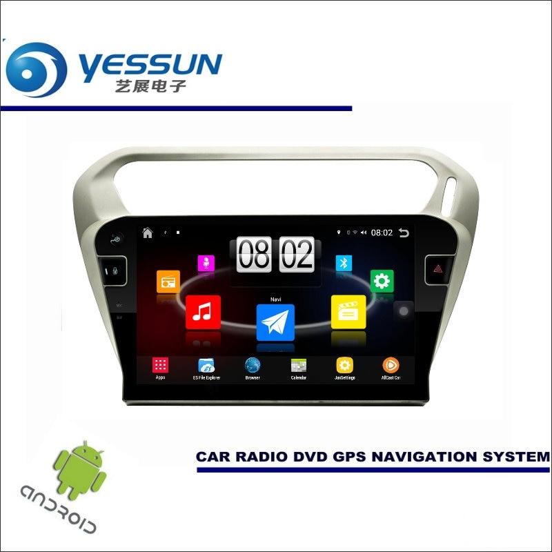 Yessun автомобиля Android мультимедийный плеер для Peugeot 301 2012 ~ 2017 Радио стерео GPS nav Navi Навигация (без cd DVD) 10 HD Экран