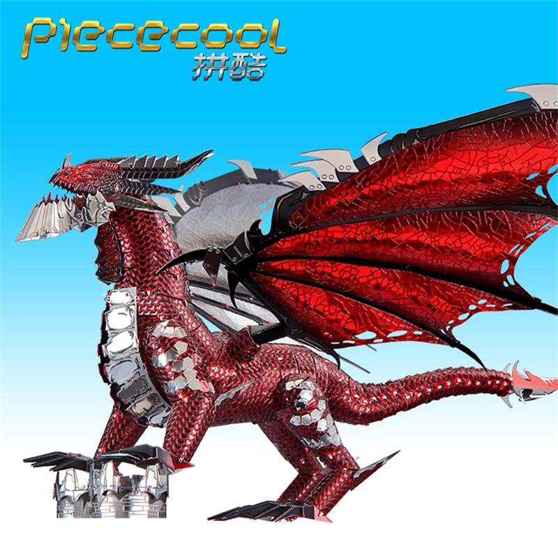 Image 5 - 2019 Piececool 3D Metal Puzzle The Black Dragon Model DIY Laser Cut Assemble Jigsaw Toy Desktop decoration GIFT For Adult kidsPuzzles   -