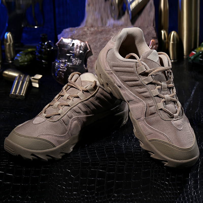 Outdoor tactical font b hiking b font climbing men shoes breathable lightweight mountain font b boots