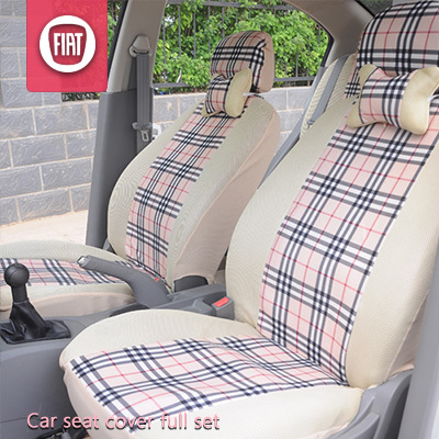 Seat Covers Car Fiat 500 Punto Palio Siena Accessories Set Plaid Universal In Automobiles From