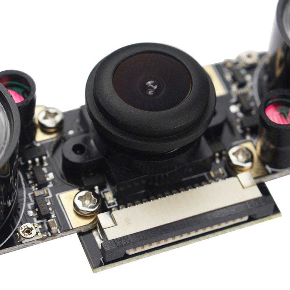 Amzdeal Камера модуль Fisheye Камера регулируемый фокус 130 градусов Широкий формат Ночное видение Камера камеры для Малина pi2/3/b + ...