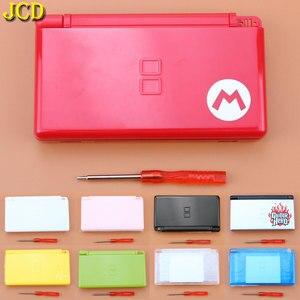 Image 1 - JCD 1 sztuk pełna gra Protect Cases obudowa pokrywa zestaw ze śrubokrętem dla Nintend DS Lite NDSL naprawa obudowa wymienna Case