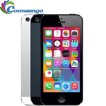 ロック解除 apple の iphone 5 携帯電話 iOS OS デュアルコア 1 グラム RAM 16 ギガバイト 32 ギガバイト 64 ギガバイト ROM 4.0 インチ 8MP カメラ WIFI 3 グラム GPS