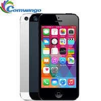Débloqué APPLE iPhone 5 téléphone portable iOS OS double core 1G RAM 16 GB 32 GB 64 GB ROM 4.0 pouces 8MP caméra WIFI 3G GPS