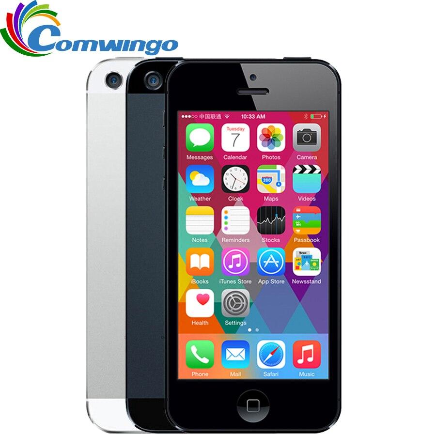 Desbloqueado APPLE iPhone 5 teléfono celular iOS OS Dual core 1G RAM 16 GB 32 GB 64 GB ROM 4,0 pulgadas 8MP Cámara WIFI 3G GPS