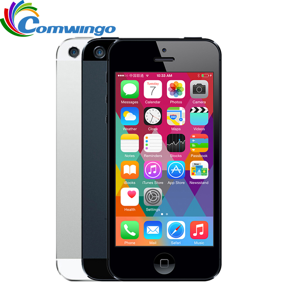 Unlocked APPLE IPhone 5  Cell Phone IOS OS Dual Core 1G RAM 16GB 32GB 64GB ROM 4.0 Inch 8MP Camera WIFI 3G GPS