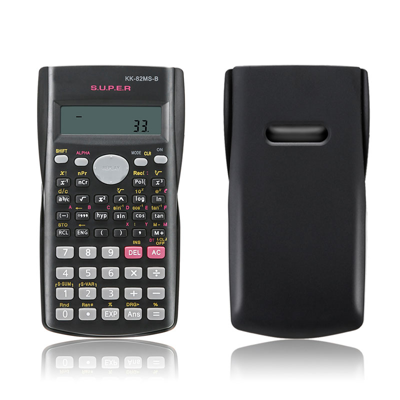 Точной ручной Портативный многофункциональный 2 линии Дисплей научный калькулятор 82ms-a для Пособия по математике преподавания