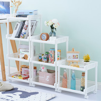 Living room storage rack multi layer racks floor clips kitchen finishing shelves simple bookshelf white rack ZP01151522